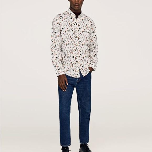 06e0bf0f74f NWT Zara MAN floral Print Button Down Top